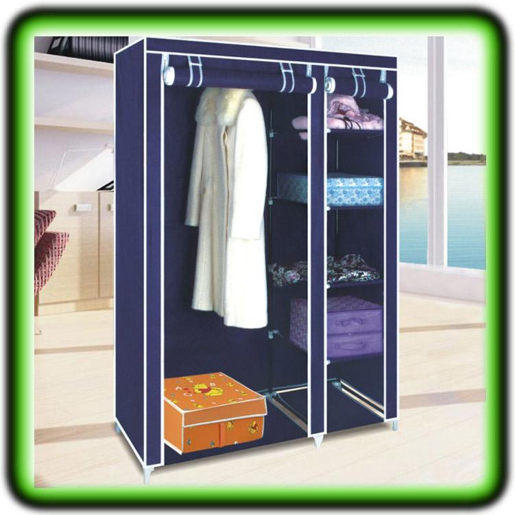 faltschrank kleiderschrank garderobenschrank camping schrank braun blau wei ebay. Black Bedroom Furniture Sets. Home Design Ideas